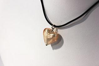 Parure Cœur: Collier Et Boucles d'oreilles Rose