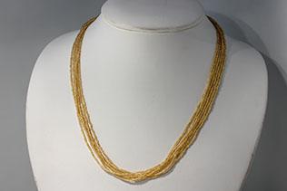 Collier En Perles De Conteria Couleur Or