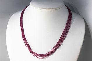 Collier En Perles De Conteria Violet