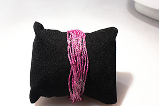 Bracelet En Perles De Conteria Violet