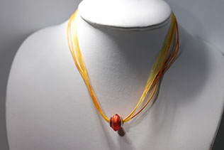 Perle Losange Orange