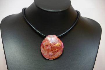 Collier Laguna Grande Rose Orange