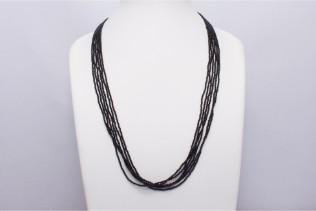 Collier En Perles De Conteria Noir