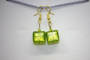 Boucles d'oreilles Glaçon Vert