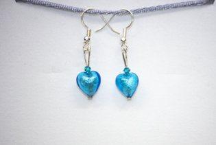 Boucles d'oreilles Piccola Amore Bleu
