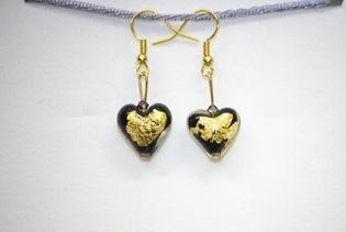 Boucles d'oreilles Piccola Amore Noir