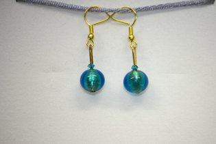 Boucles d'oreilles Palla Bleu Paon