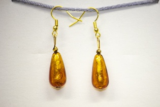 Boucles d'oreilles Goccia Orange