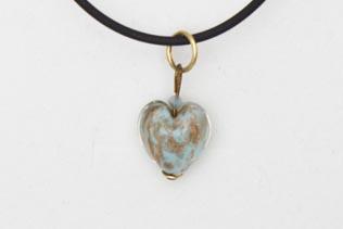 Pendentif Petit Coeur Bleu Ciel Avventurina