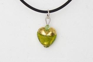 Pendentif Petit Coeur Vert