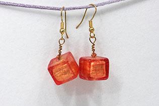 Boucles d'oreilles Glaçon Tangerine