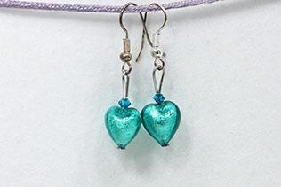 Boucles d'oreilles Piccola Amore Bleu Maya