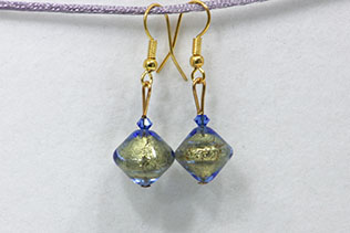 Boucles d'oreilles Zefira Bleue