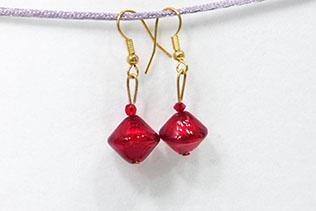 Boucles d'oreilles Zefira Rouge