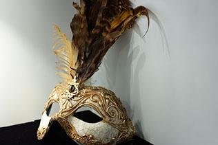 Masque De Venise Colombina Doré