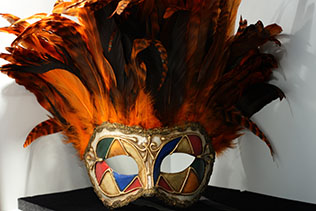 Masque De Venise Inca Orange Arlequin