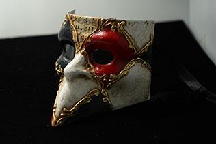 Masque De Venise Mini Bauta Scacchi Eco Stucco