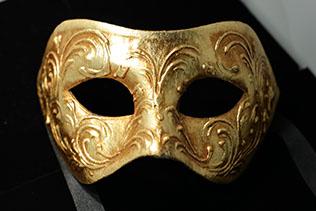Masque De Venise Colombina  Stucco Doré