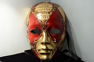 Masque De Venise Volto Rouge Et Or