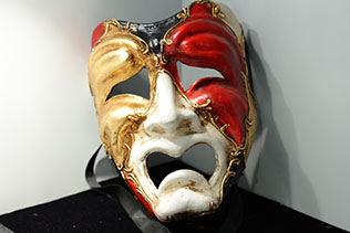 Masque De Venise Volto Piangi