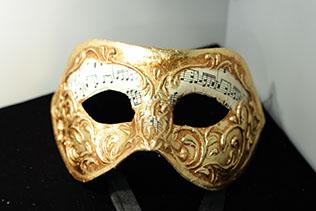 Masque De Venise Colombina Stucco Musica Doré