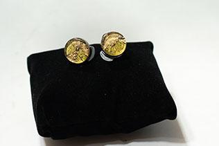 Boucles d'oreilles Clip Vert Tilleul