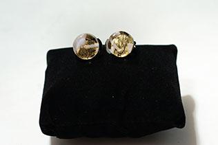 Boucles d'oreilles Clip Zebré Blanc