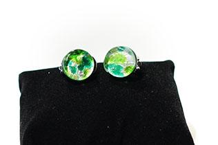 Boucles d'oreilles Clip Vert Pomme Et Vert Menthe