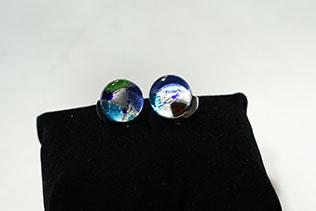 Boucles d'oreilles Clip Azur Clair Et Bleu Saphir