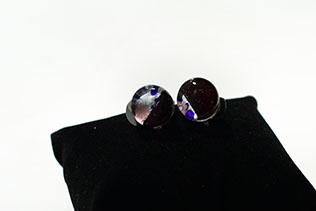 Boucles d'oreilles Clip Rouge Grenat