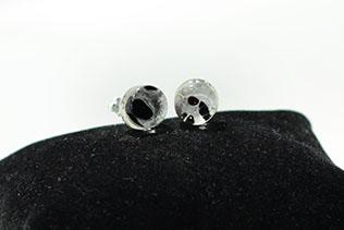 Boucles d'oreilles Tacheté Noir et Prune