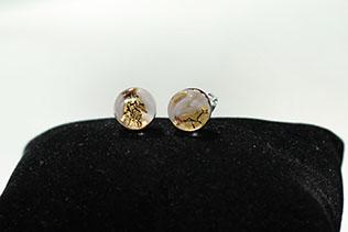 Boucles d'oreilles Clou Zébré Blanc