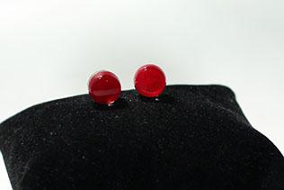 Boucles d'oreilles Clou Rouge Grenade