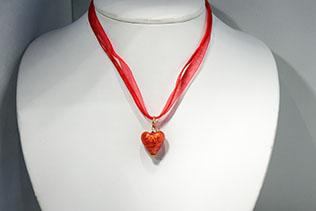 Pendentif Amore Rouge Orange