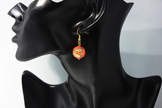 Parure Amore: Boucles d'oreilles Et Bracelet Tangerine