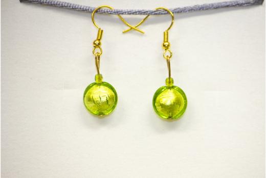 Boucles d'oreilles Sole Vert