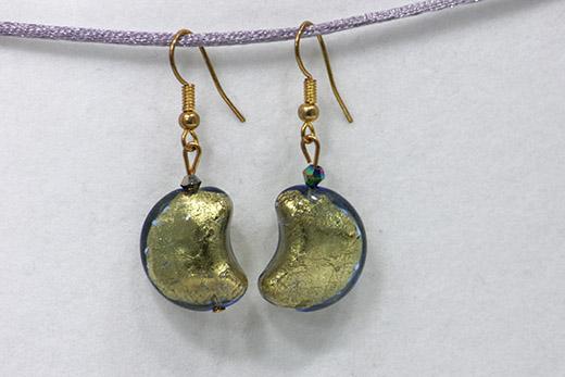 Boucles d'oreilles Grande Luna Bleue