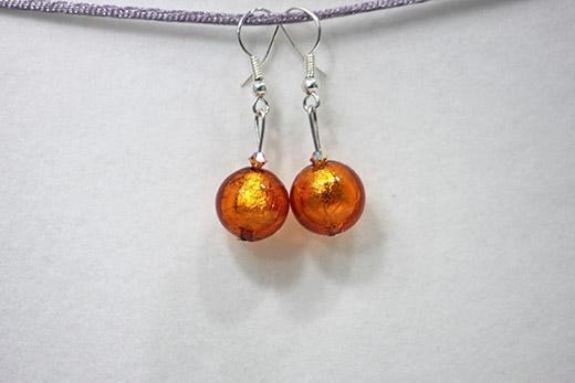 Boucles d'oreilles Palla Orange