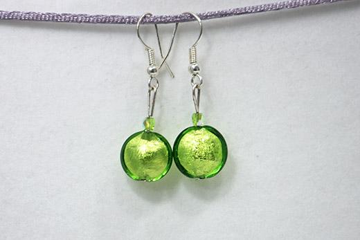 Boucles d'oreilles Sole Vert Pomme