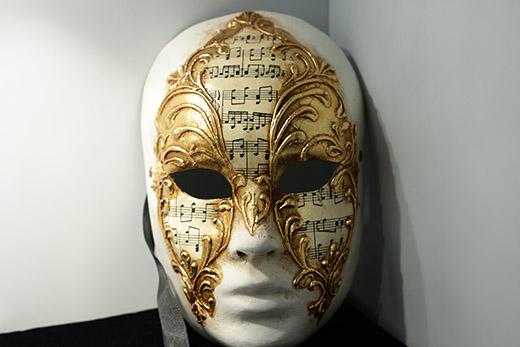 Masque De Venise Volto Blanc Et Doré
