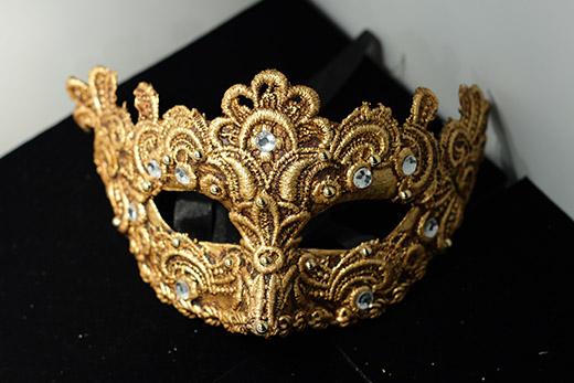 Masque De Venise Galetto Doré