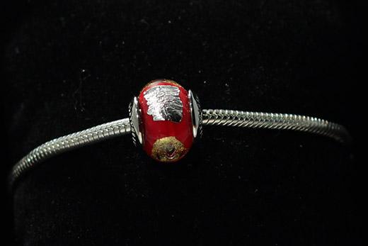 Perle Ronde Rouge Cerise