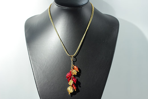 Collier Charm Grenade Et Or
